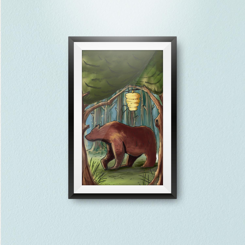 The Bear Childrens illustrations   Joao Ferreira Freelance Designer
