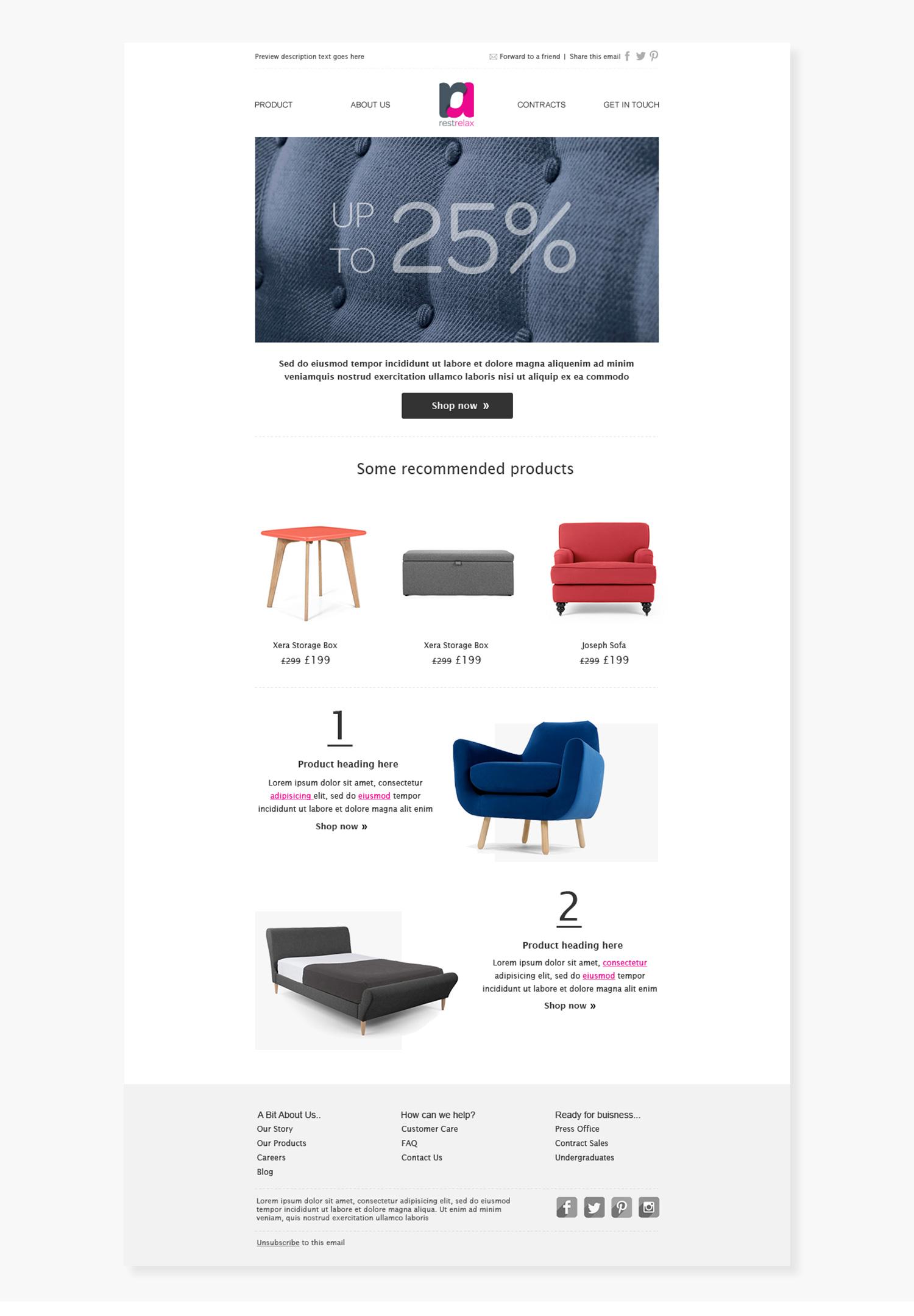 Restrelax Email Design | Joao Ferreira Freelance Designer
