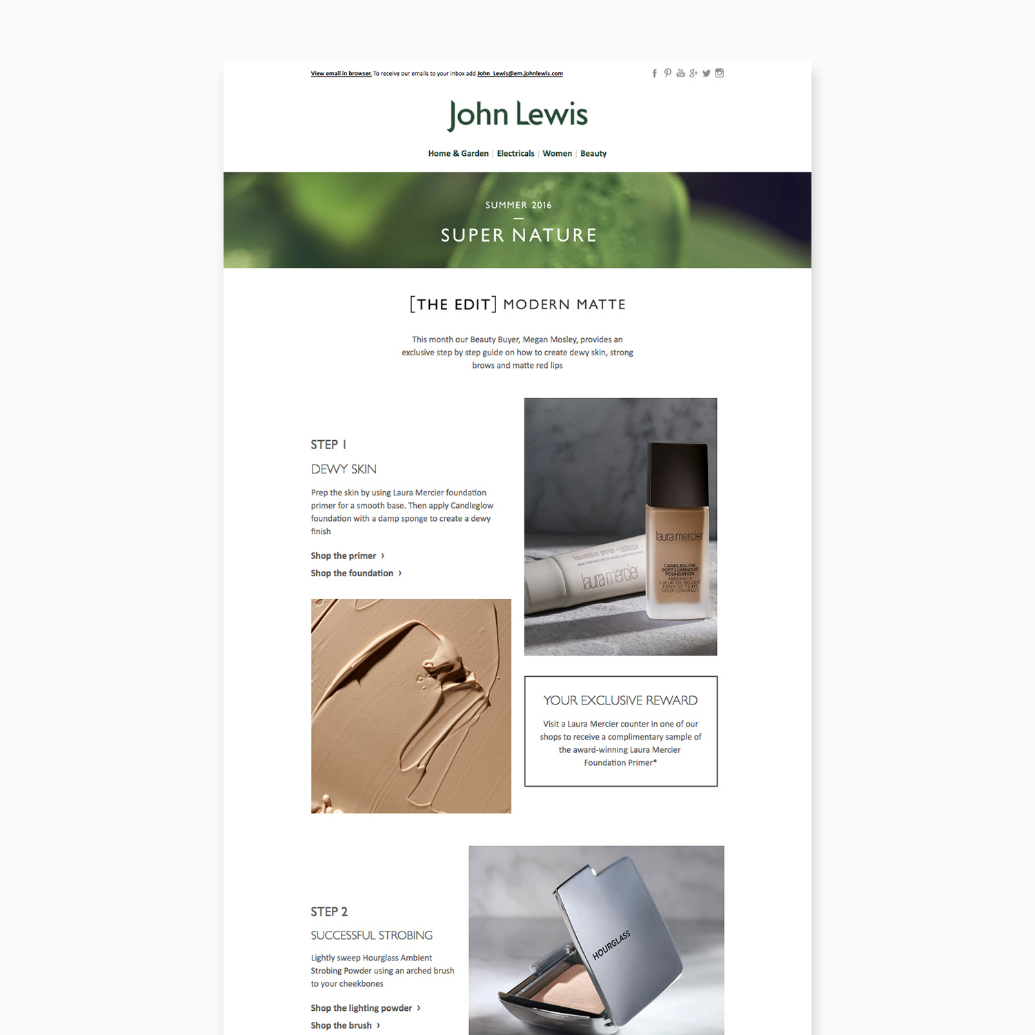 John lewis super nature beauty email for John lewis design service