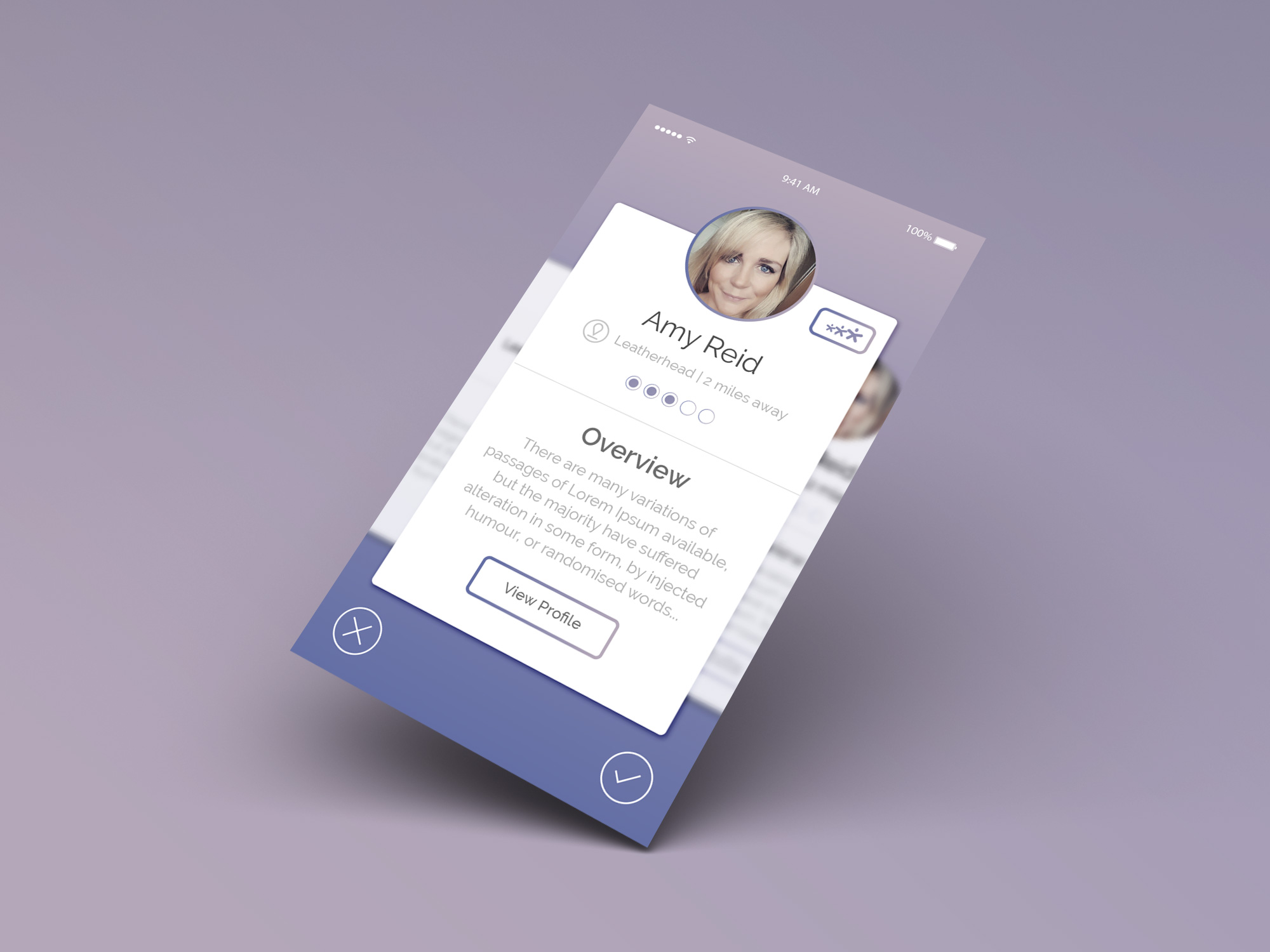 NanniFinder Nanni Profile Card View Joao Ferreira Freelance Designer