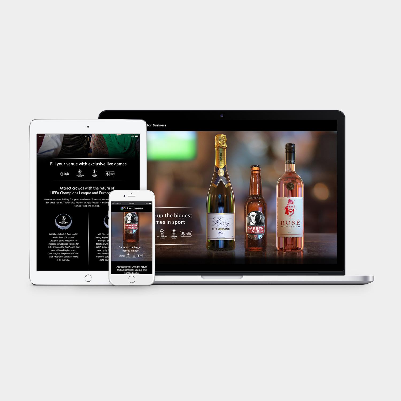 BT Sport Bottles Landing Page